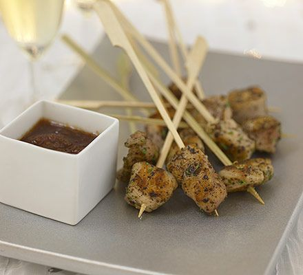 17 best images about canapes for the wedding on pinterest for Chicken canape ideas