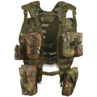 Dutch Military Surplus DPM Camo Tactical Vest, Used