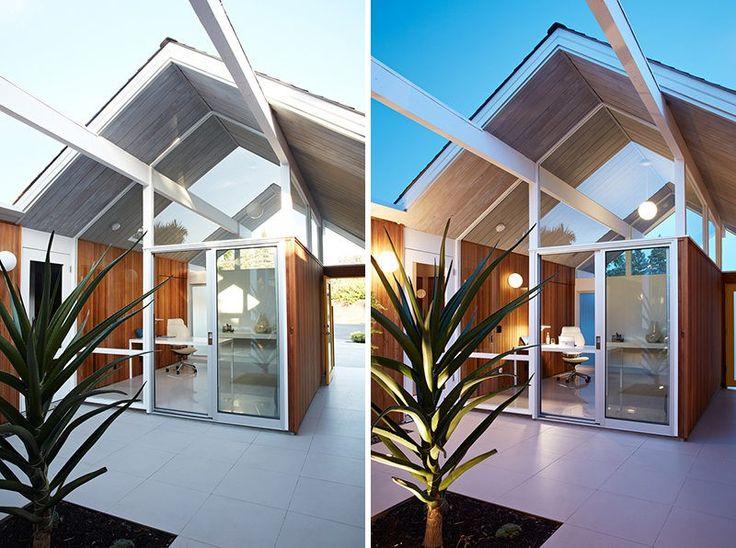 dieses renovierte mitte des jahrhunderts moderne haus verfgt ber eine separate home office das - Mitte Des Jahrhunderts Modernen Stil Zu Hause