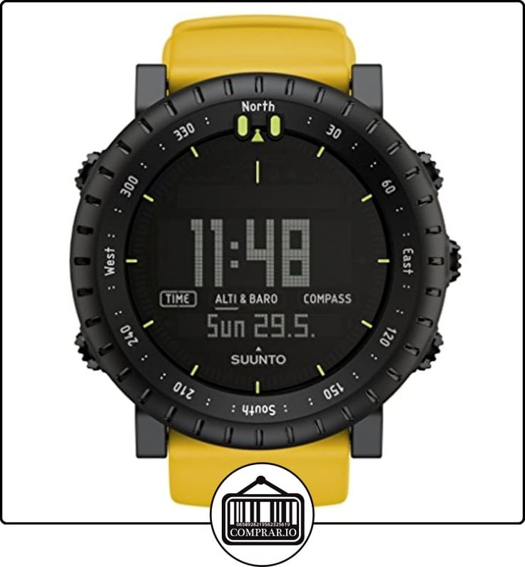 Suunto Core Yellow Crush - Reloj deportivo (Dot-matrix, 49,1 x 14,5 x 49,1 mm, 68g, Negro, Amarillo, CR2032, 8760h) de  ✿ Relojes para hombre - (Gama media/alta) ✿