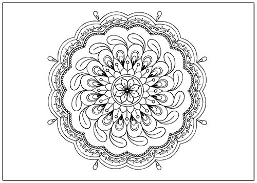 Download this free mandala coloring page and start coloring.