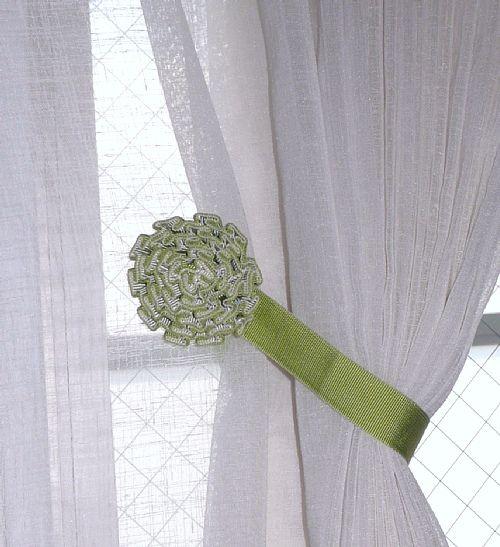marimekko HEINA ナチュラルグリーンのお部屋 | オーダーカーテン ... マグネットタッセル