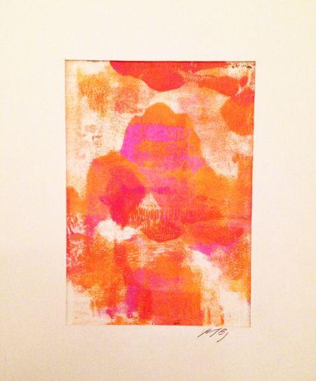 by Marlene Bjerregaard: acrylic monostamp