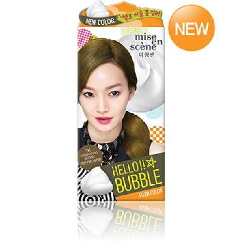 Mise-En-Scene Hello Bubbles Foam Hair Color 7K Urban Khaki Brown Self Dye Korea #MiseEnScene