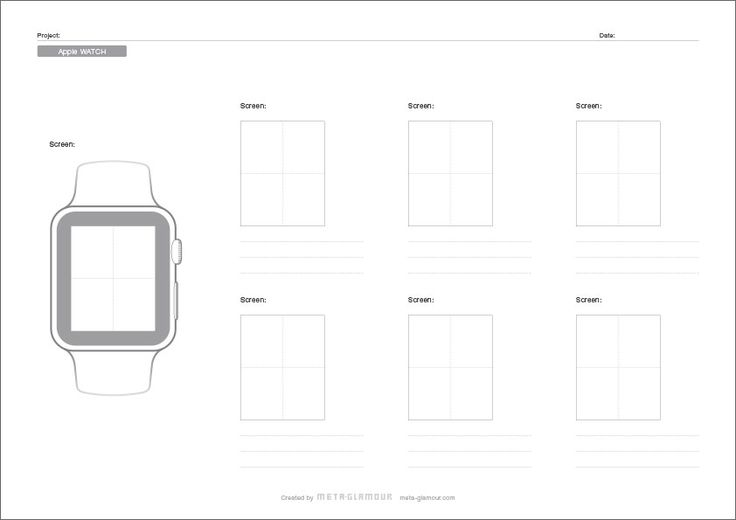 Apple Watch Paper Prototyping Sheet