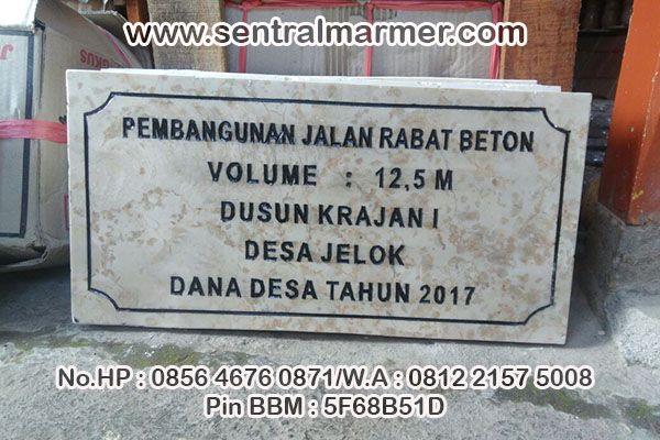 Prasasti Marmer Surabaya, Jasa Pembuatan Prasasti, Jual Prasasti Marmer dan Granit, Jual Prasasti Murah, Pusat Pembuatan Prasasti