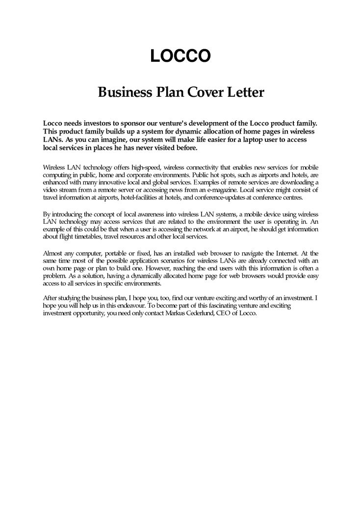 business plan cover letter sample free career center bauer Home - business proposal cover letter sample