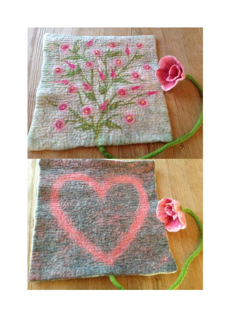 Wet felted Pad, inspired by Ellen