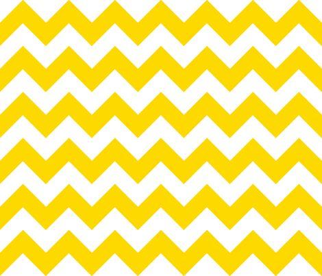 Chevrons Yellow and White fabric by juliesfabrics on Spoonflower - custom fabric