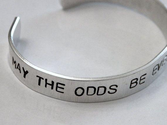 The Hunger Games Odds Favor  Silver Metal cuff Bracelet
