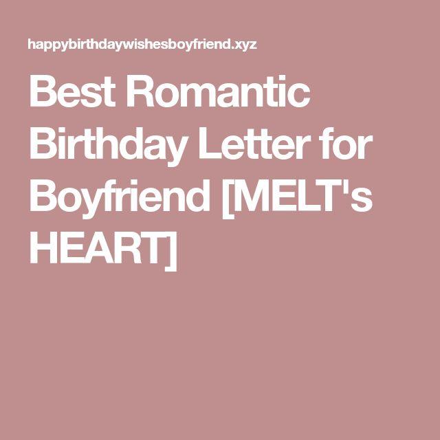 Best 25+ Happy Birthday Boyfriend Letter Ideas On