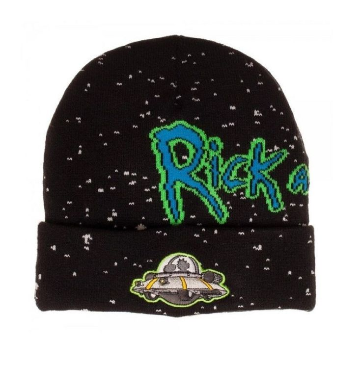 Rick and Morty Beanie Hat Adult Swim Officially Licensed Bioworld Space Ship NEW #Bioworld #Beanie