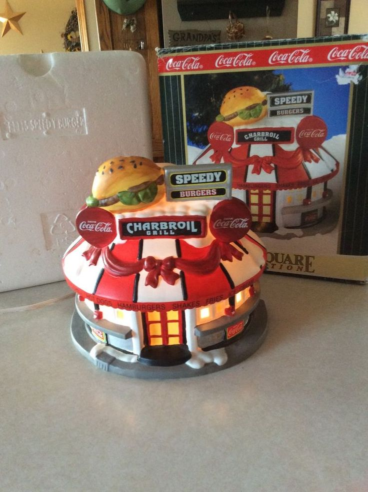 1998 Coca Cola Speedy Burgers Charbroil Grill Town Square Holiday Village Coke