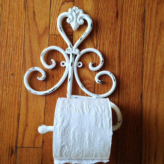 Ornate Shabby Chic Toilet Paper Holder Hand Towel Holder Toilets Shabby And Paper