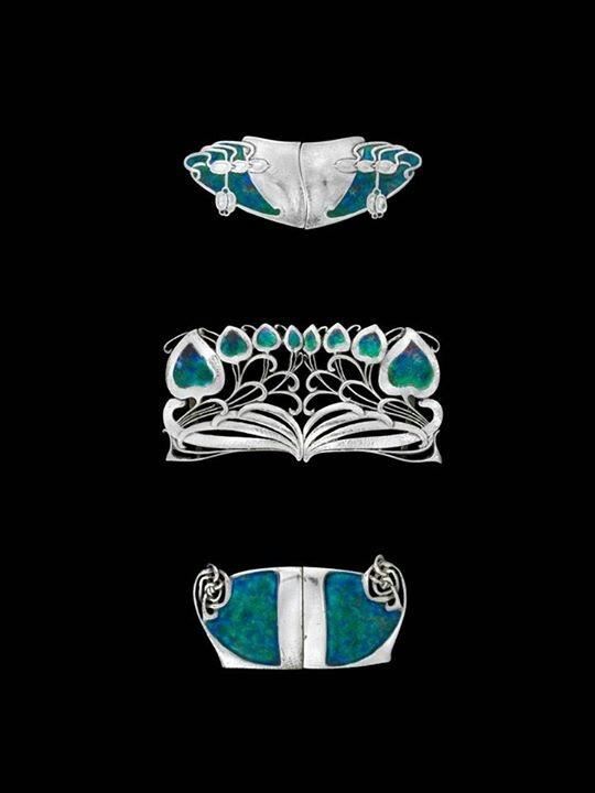 Archibald Knox art nouveau buckles