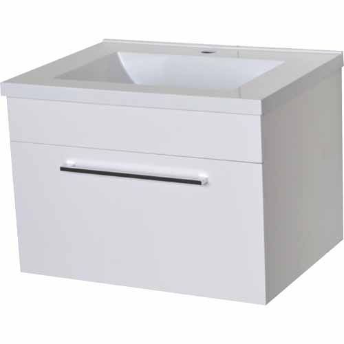 Nouveau Florence Wall Hung Vanity 600mm Gloss White - Mitre 10