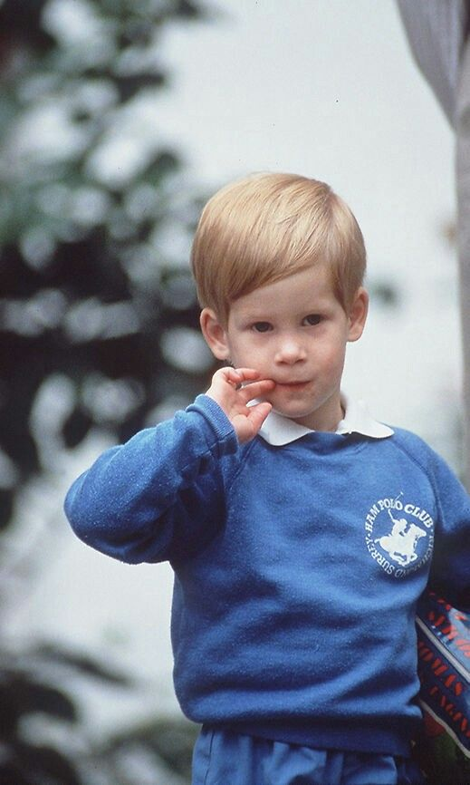 September 16, 1987: Prince Harry on his first day at Mrs Mynors nursery school (Photo by Tim Graham/Getty Images)