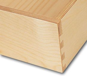 Solid joinery like half-blind dovetail joints are not only possible with Baltic birch, but they look good too.