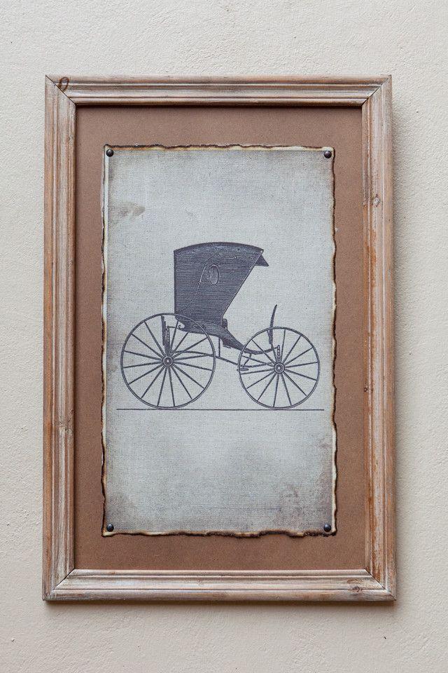 Natural Framed Print Carriage I