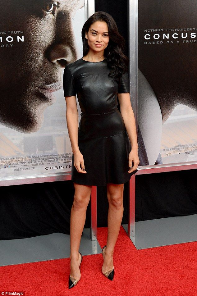 Bringing sexy back: Shanina Shaik put on a typically stylish sartorial display as she attended a special screening for Will Smith's new movie, Concussion, on Wednesday night