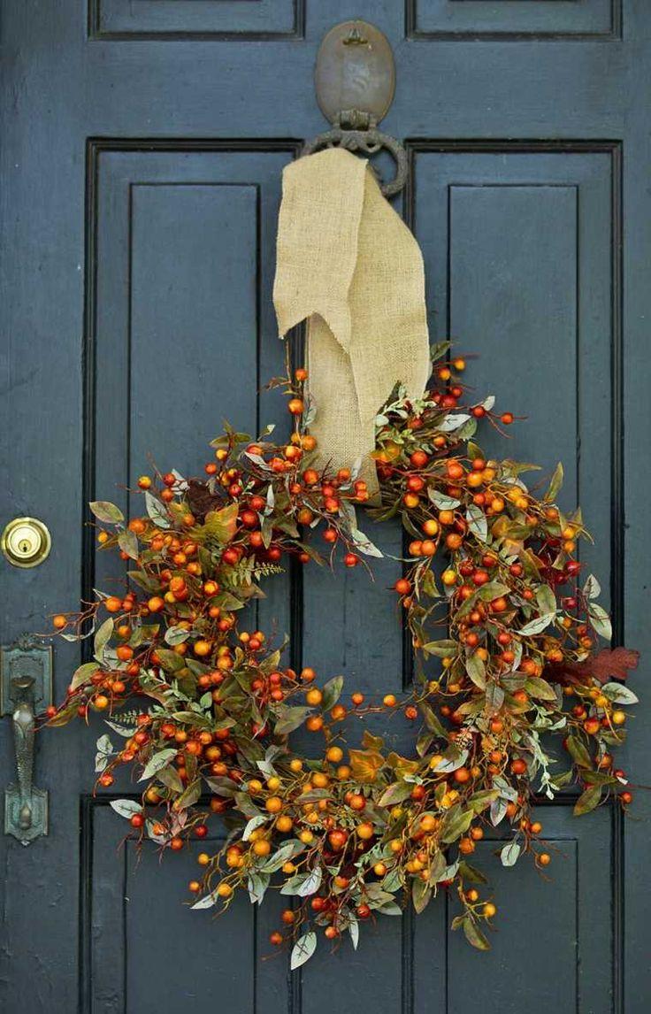 le thème Couronnes Pour Portes Dhalloween sur Pinterest  Couronne ...