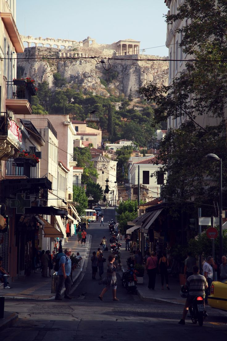 VISIT GREECE| Jessica Stein in Athens, At the foot of the Acropolis, summer 2013