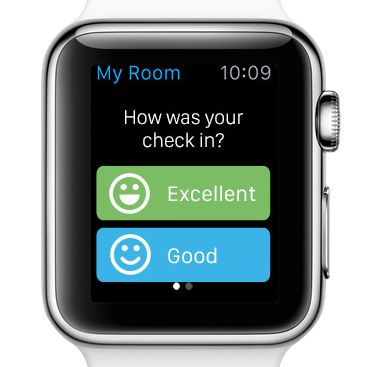 Rate your check-in on Booking.com App for Apple Watch