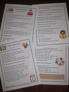 Kid friendly version of the common core standards... would be great to have at student led conferences AND let students reflect and check off items at the end of each unit!