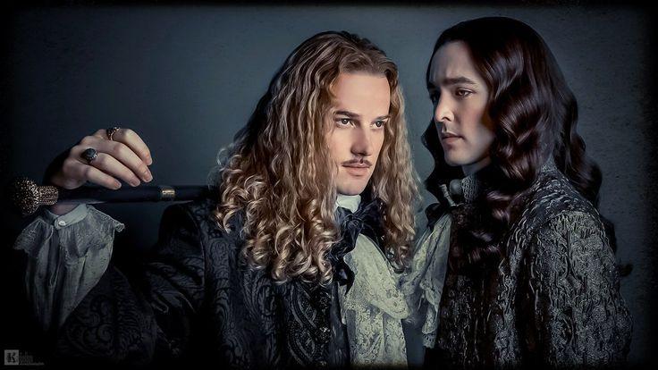 Beautiful edit of The Chevalier de Lorraine (Evan Williams) and Monsieur (Alex Vlahos)