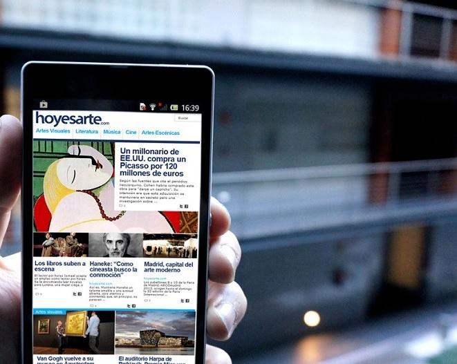 Nuevo diseño y arquitectura de la información para Hoyesarte.com
