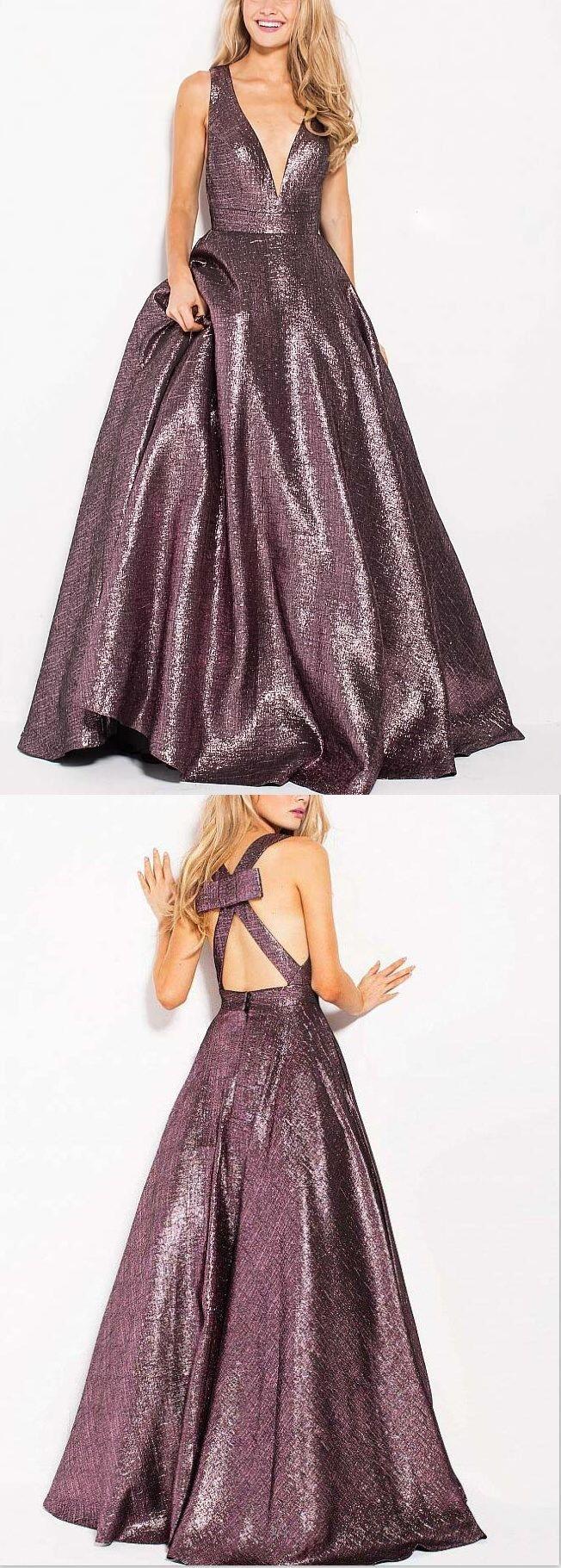 Deep V Neck Sexy Long Sparkly Unique Design Prom Dresses, Evening Dress, Fashion gown, PD0480