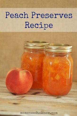 Easy fruit preserve recipes