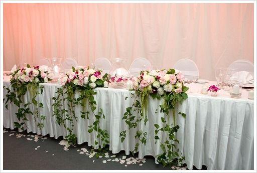 42 best images about wedding head table arrangements on pinterest floral arrangements. Black Bedroom Furniture Sets. Home Design Ideas