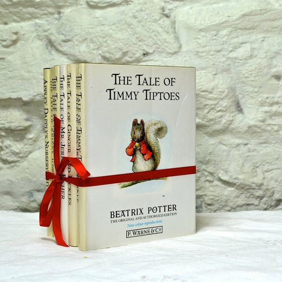 Set 9 Beatrix Potter Books Vintage Childrens by FeltersCottage