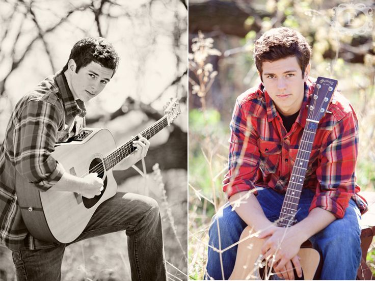 Cool Senior Picture Ideas for guys with guitars | Senior Guy Photo | Senior Session Ideas