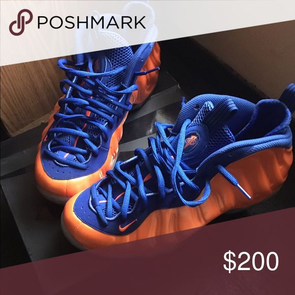 NY KNICKS NIKE AIR FOAMPOSITE Only worn once. Nike Shoes Sneakers