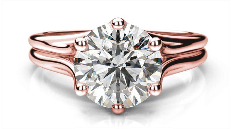 Zásnubný prsteň Meda round