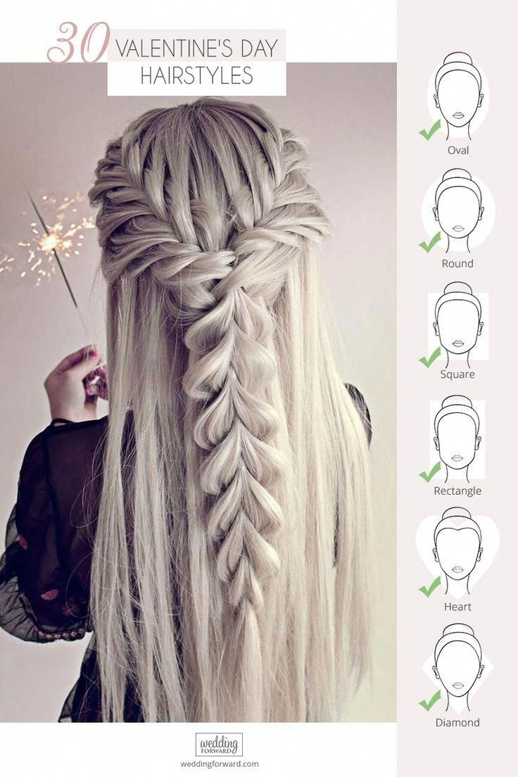 Valentine S Day Hairstyles Valentine S Day An Excellent Occasion For Dress Up In This Gallery We Ve Valentine S Day Hairstyles Hair Styles Long Hair Styles