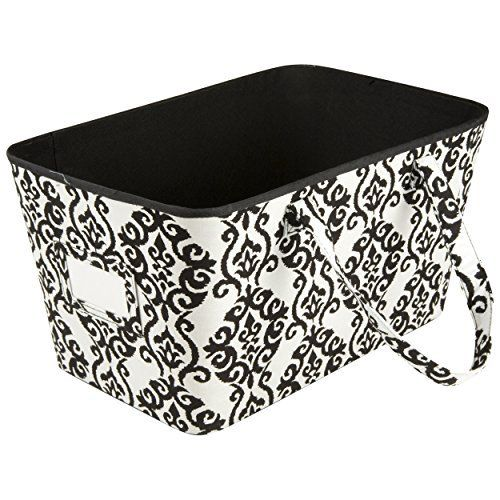 Home Accents u2013 Tapered Storage Bin With Handles u2013 Decorative Storage Box u2013 Open Storage Bin u2013 Fabric Storage Bin - Floral Print u2013 Damask u2013 Vintage u2013 Shabby ...  sc 1 st  Pinterest & 104 best Home Storage images on Pinterest | Bathroom Cleaning and ...