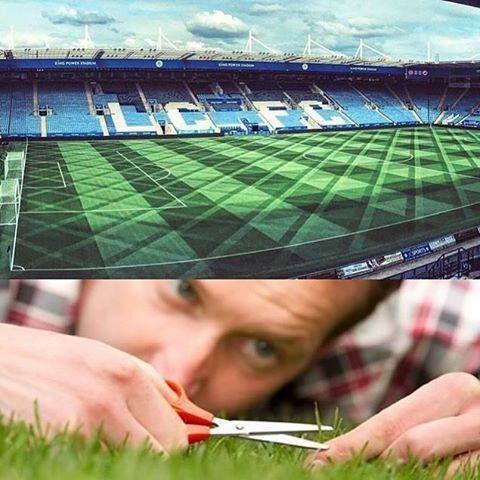 Pięknie przystrzyżona trawa na King Power Stadium • Tak wygląda murawa na stadionie Leicester City • Zobacz precyzję wykonania >> #leicester #leicestercity #football #soccer #sports #pilkanozna