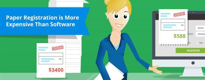 Paper Registration Forms Cost More Than Online Registration Software!