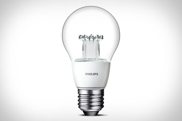 PHILIPS CLEAR LED LIGHT BULB:  Everyone who's been paying attention knows that LED light bulbs are the future — but up until now, they haven't looked like light bulbs. The Philips Clear LED Light Bulb does. Using an innovative, world-first lens, this insanely efficient bulb delivers the warm light of a traditional incandescent bulb in all directions, mimicking the output of a 40 Watt bulb while letting you see the light at work thanks to a clear, familiar body.