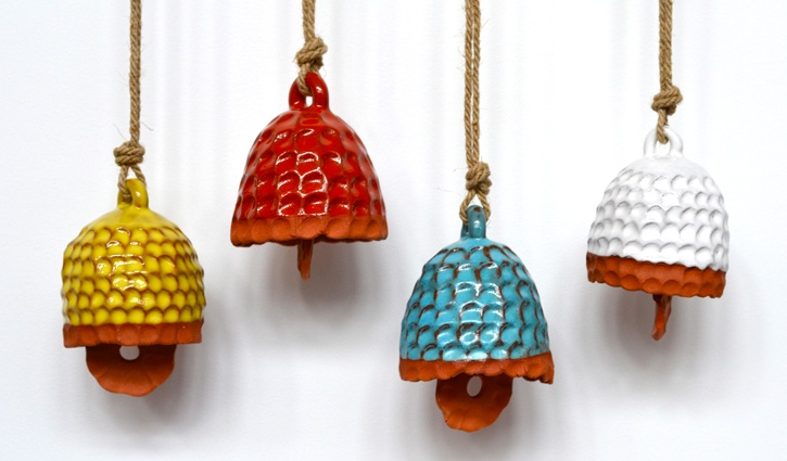 Michelle Quan: Clay Projects, Clay Belle, Mquan Belle, Tiny Belle, Ceramics Belle, Color, Windchimes, Ceramic, Kerama Inspiration