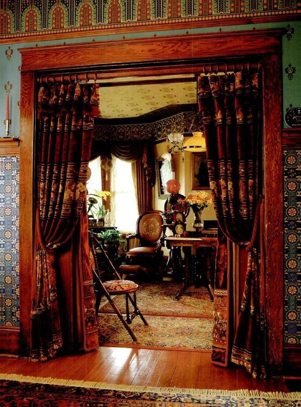 Victorian portiere