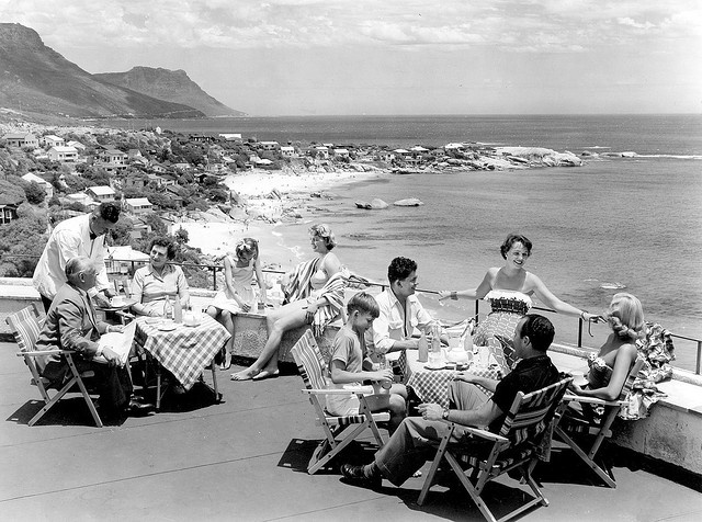 Clifton Beach Cape Town, from The Clifton Hotel (1952)