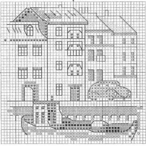Схема вышивки История красной машинки 2 из 6