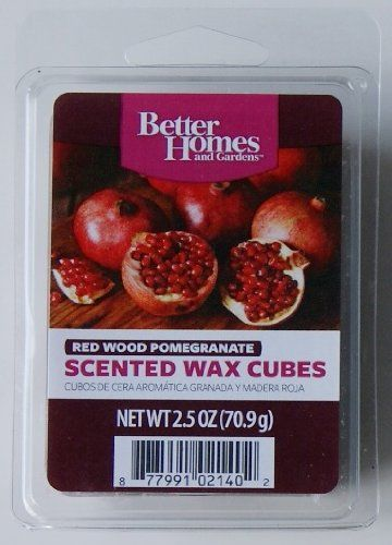 Better homes and gardens red wood pomegranate wax cubes - Better homes and gardens scented wax cubes ...