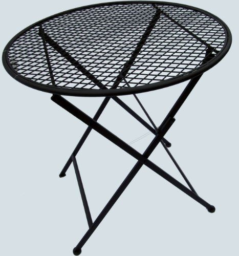 Folding Handmade 3 Pc Patio Bistro Set Black Metal Garden Furniture Ro 2015    2016 Http