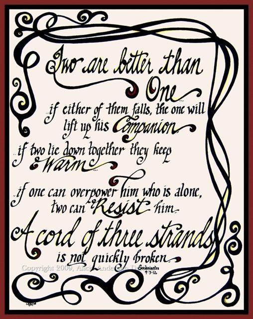 Wedding Sermon Ecclesiastes 4 9 12 Tbrb Info