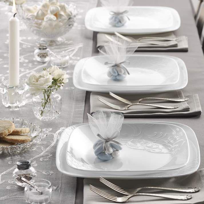 Corelle Boutique Cherish Embossed Square Set Service for 4 - Dinnerware - Dining u0026 Entertaining - Macyu0027s & 67 best Set The Table images on Pinterest   Dinnerware Cutlery and ...